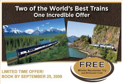Whistler Mountaineer for FREE