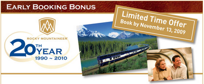 Rocky Mountaineer Early Booking Deal