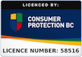 Licenced by Consumer Protection BC