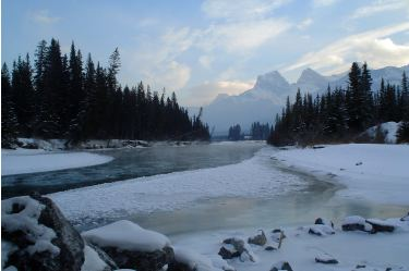 Bow River & Three Sisters, Canmore