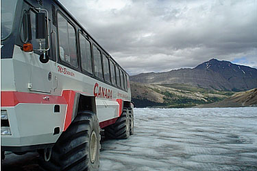 Ice Explorer, Athabasca Glacier. Jasper National Park.