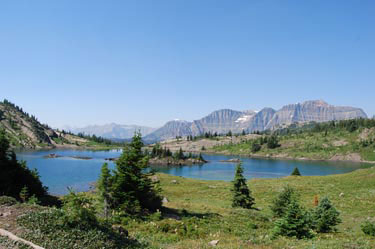 Rock Isle Lake. Sunshine Meadows.