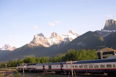 Rocky Mountaineer Train. Canmore, Alberta.