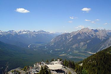 View from Sulphur Mountain. Banff National Park.