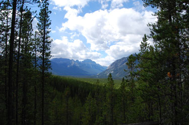 Sundance Canyon Viewpoint. Banff National Park.