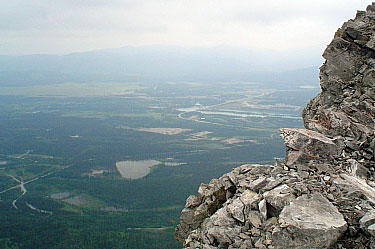 View from Mount Yamnuska. Alberta.