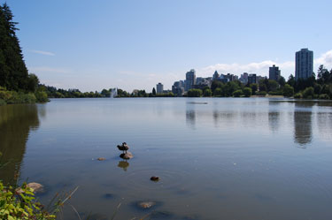 View from Lost Lagoon. Vancouver, B.C.