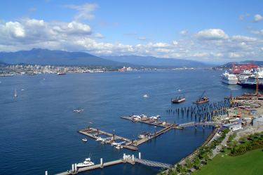 View of Seaplane Terminal (pre-Convention Centre). Vancouver, B.C.