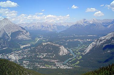 View from Sulphur Mountain. Banff, Alberta.