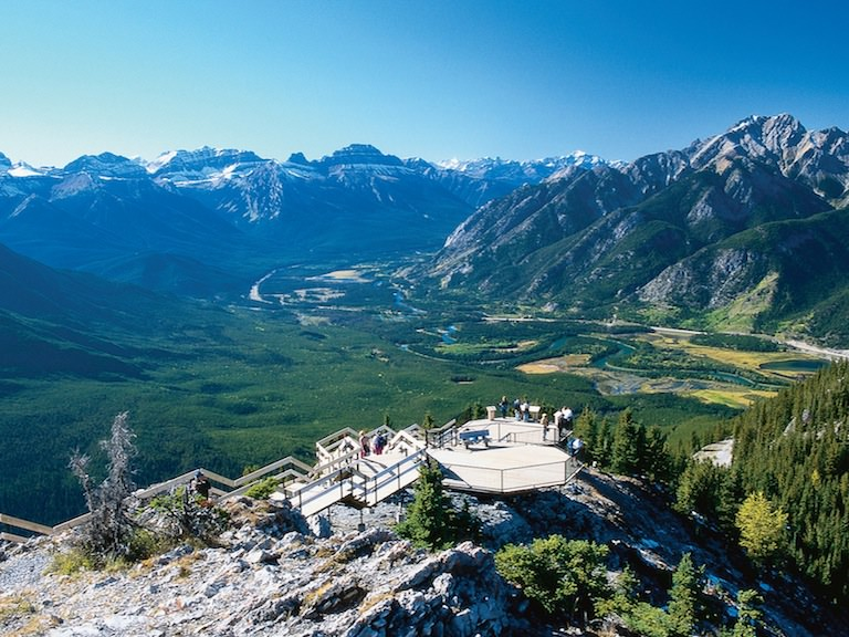 View from Sulphur Mountain (via Banff Gondola)