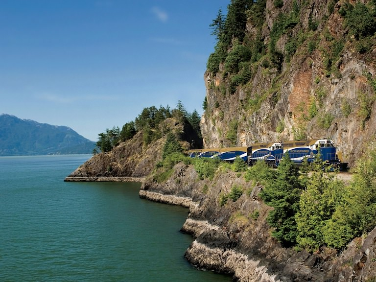 Rocky Mountaineer Train, Howe Sound